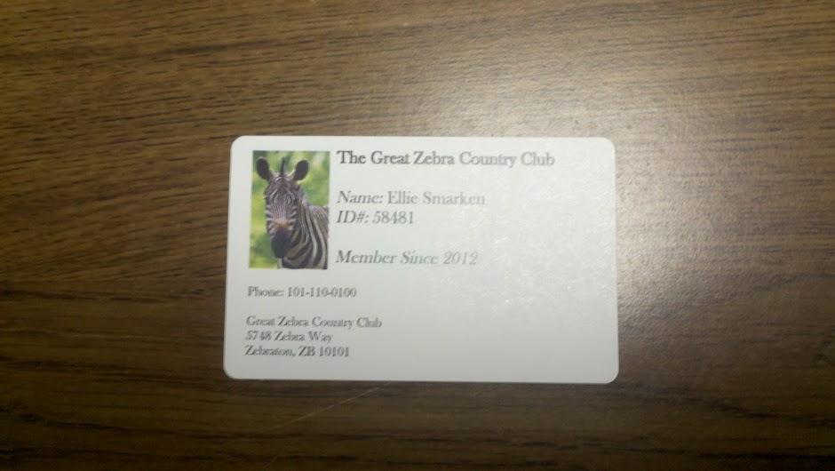 Club membership card template reheart Gallery