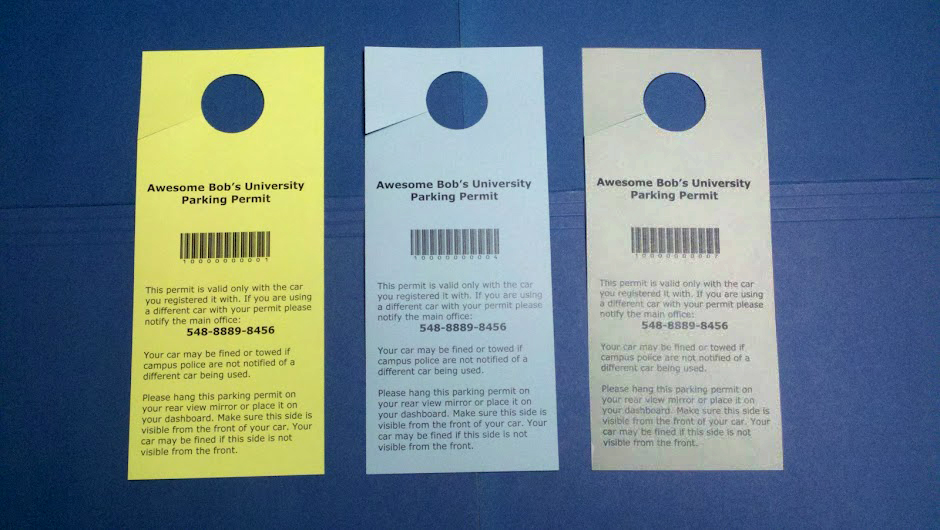 How to create your own parking permit hang tags with door hangers dhpp step 4b three parking permits detached with circle punched out maxwellsz