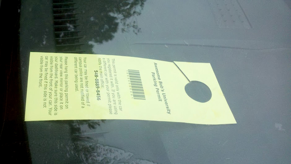 How To Create Your Own Parking Permit Hang Tags With Door