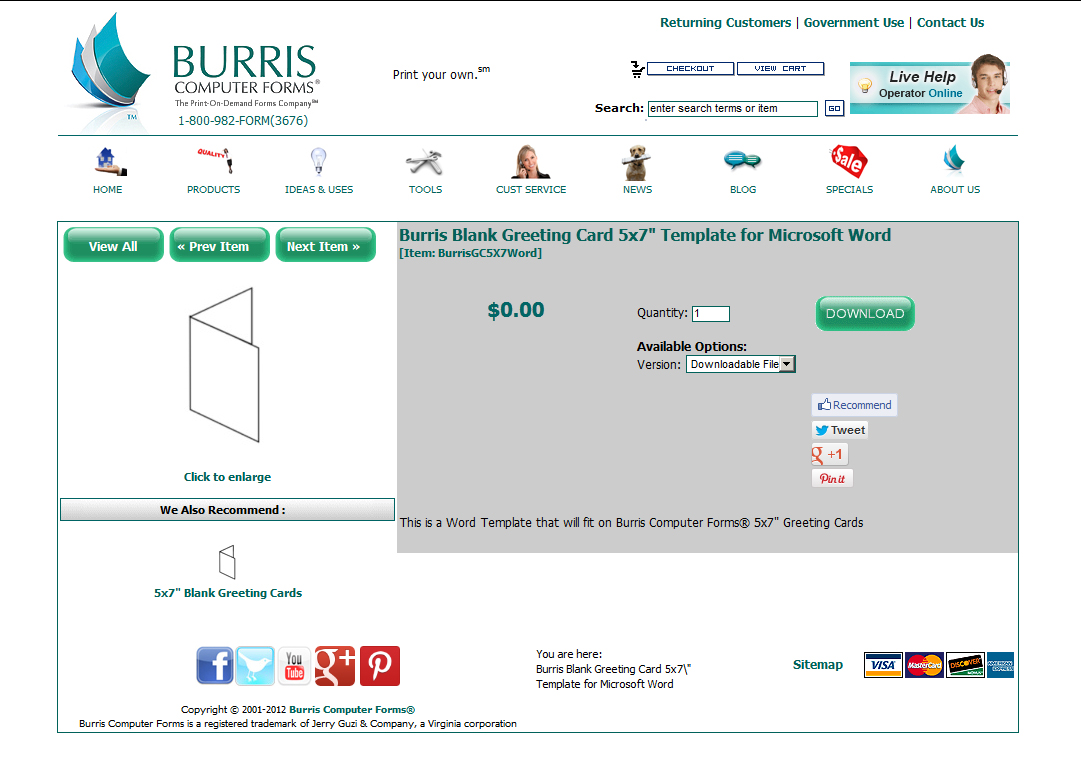 how to print your own holiday cards burris computer forms hcwt step 1a the microsoft word or publisher template