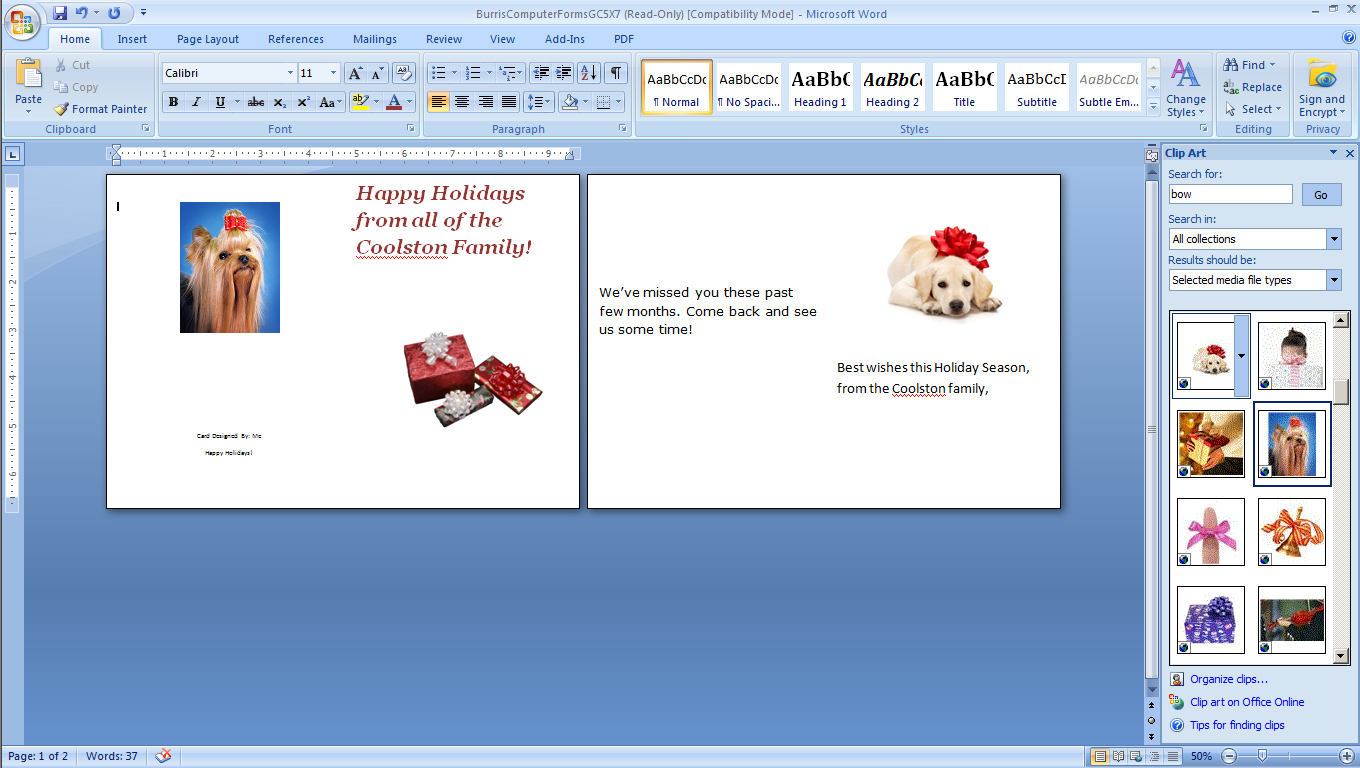 how to print your own holiday cards burris computer forms