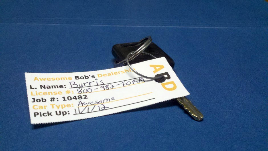 Print Your Own Key Tags for Dealerships