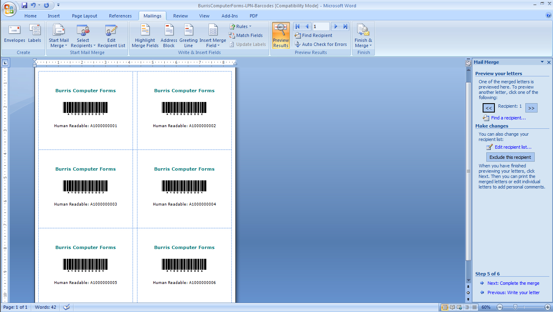 LPNB Step 3f Add customization to lpn barcode labels