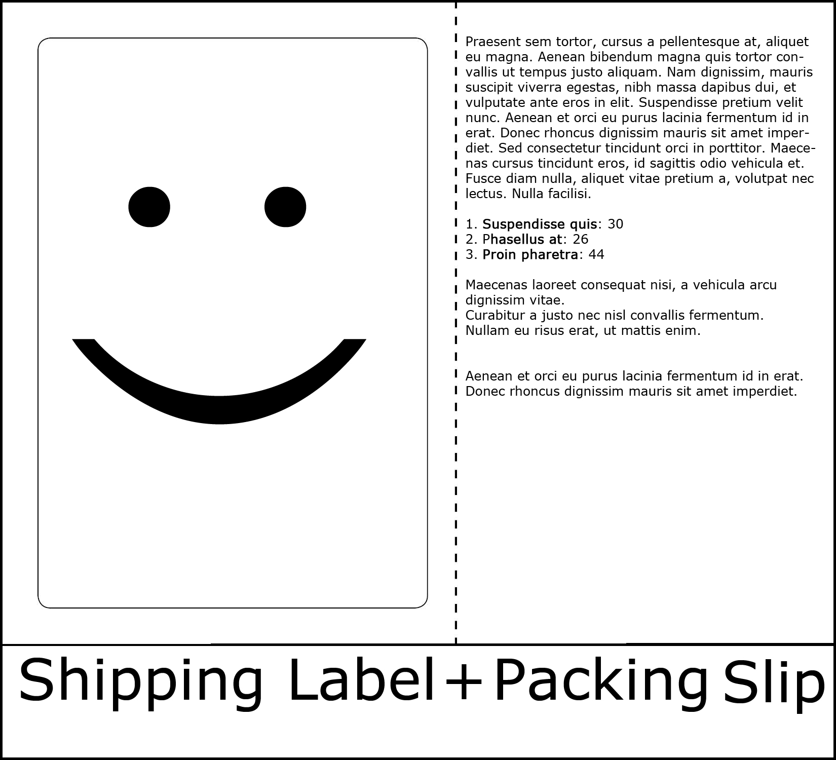 Print pack slip and label on single sheet Burris Computer Forms – Shipping Slip Template