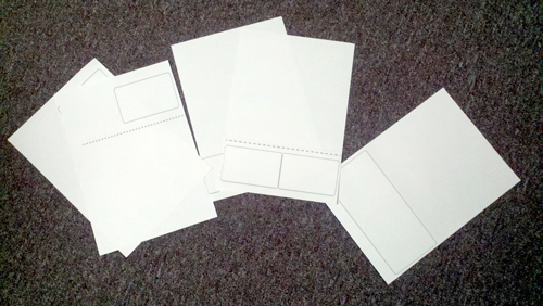metric A4 label sheets