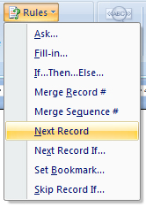 MM 4a Insert next record fields into Microsoft Word