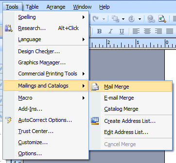 how to create a mail merge template in word 2013
