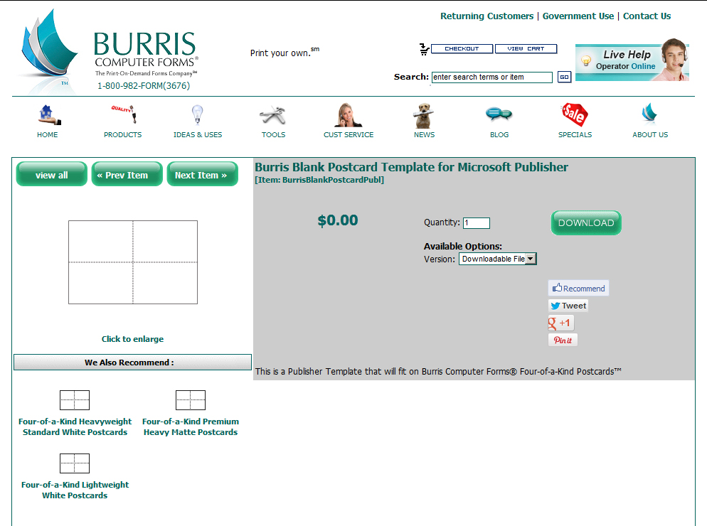 How To Mail Merge Four Postcards Onto One Sheet Burris Computer – Free Postcard Template Download