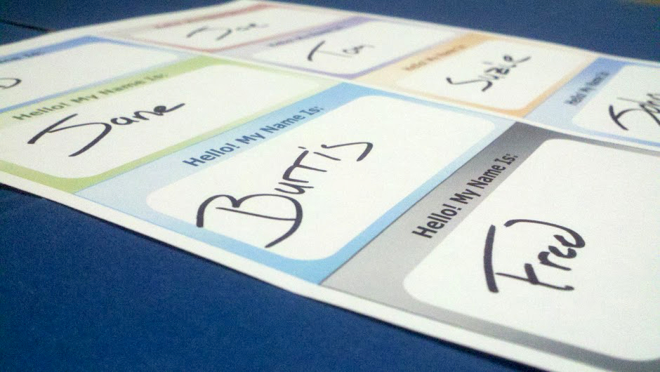 picture relating to Printable Name Tag known as How in the direction of Print Your Individual Status Tag Labels. -