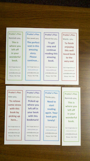 Print your own bookmarks.