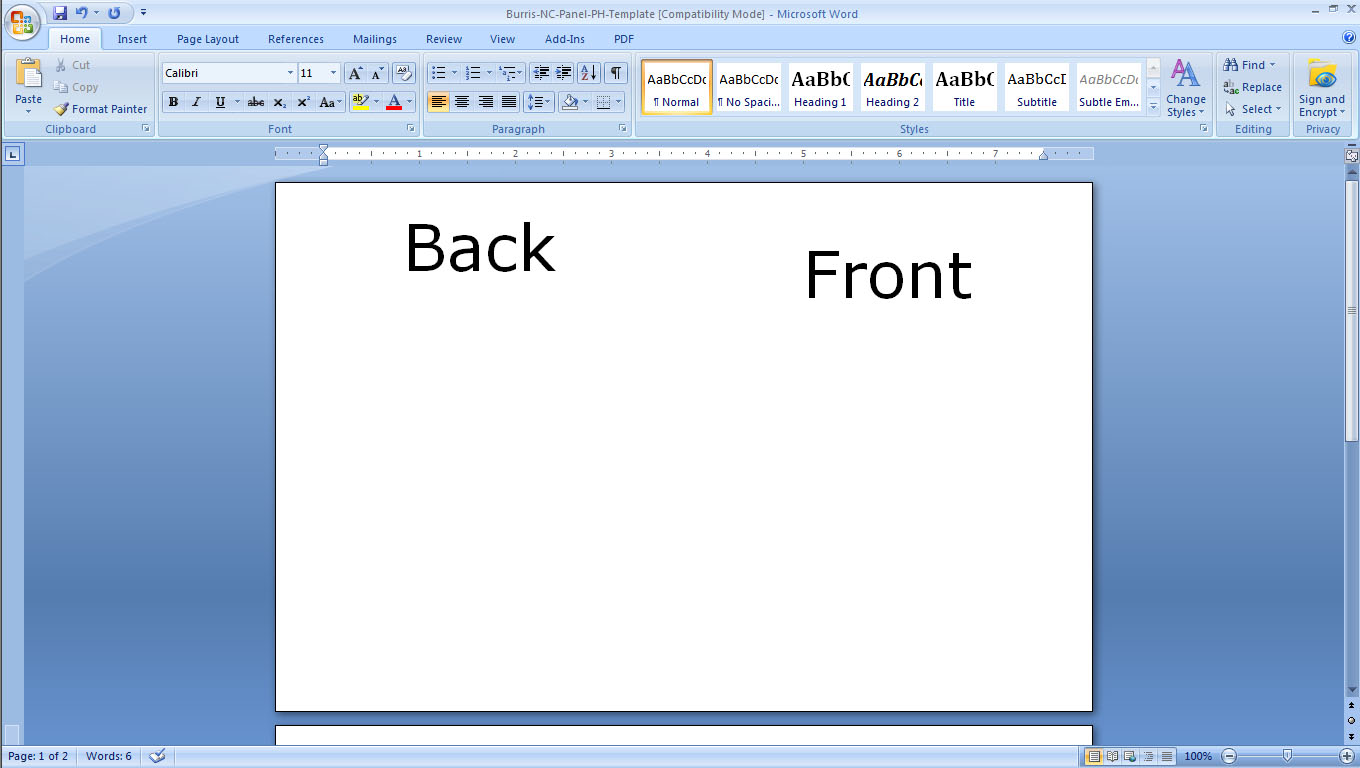 How to print postcards in word 2010