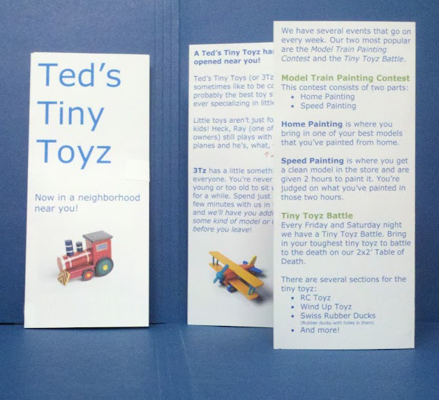 middleweight large trifold mailers with reply card