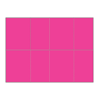 Four-of-a-Kind Utility Bright Color Postcards - Popping Pink