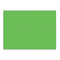 Four-of-a-Kind Utility Bright Color Postcards - Sonic Green