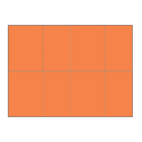 Four-of-a-Kind Utility Bright Color Postcards - Tangerine
