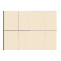 Four-of-a-Kind Utility Standard Color Postcards - Classy Cream