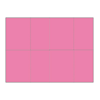 Four-of-a-Kind Utility Standard Color Postcards - Rose Wine