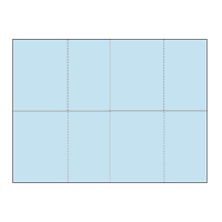 Four-of-a-Kind Utility Heavyweight Color Postcards - Baby Blue