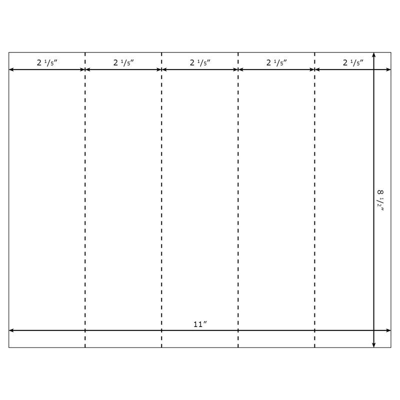 Burris Blank Printable Bookmarks 5UP Template for Microsoft Word – Blank Worksheet Template