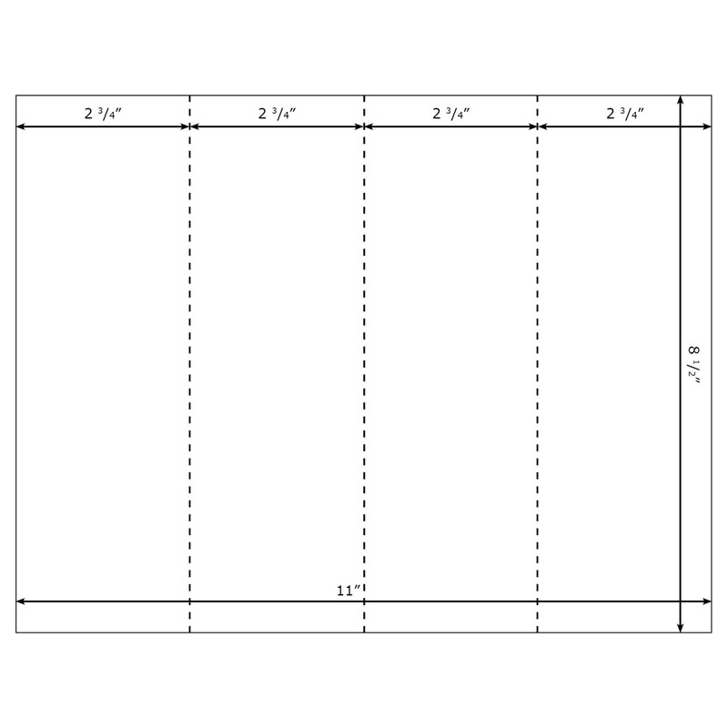 Blank Printable Bookmarks Template For Microsoft Word