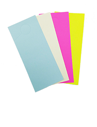 Blank Door Hangers in 4 different colors