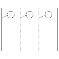 Three Per Page Blank Door Hanger (Perfed Circle)