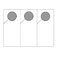 Three Per Page Door Hanger (Punched Out Circle)