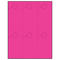 Hang 6! 6 Per Page Hanger - Perfed Circle - Popping Pink