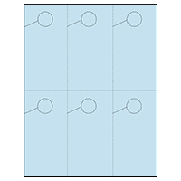 Hang 6! 6 Per Page Hanger - Perfed Circle - Baby Blue