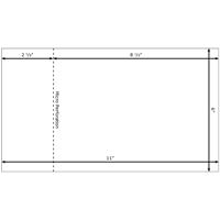 eddm mailer 6x11 standard white with perf. Black Bedroom Furniture Sets. Home Design Ideas