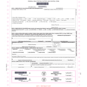 Federal Drug Testing Chain of Custody Form (front)