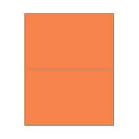 Print On Demand Jumbo Bright Color Postcards - Tangerine