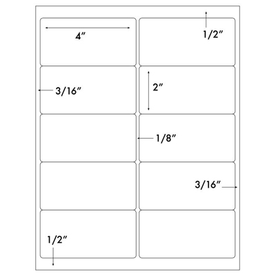4 x 2 label template