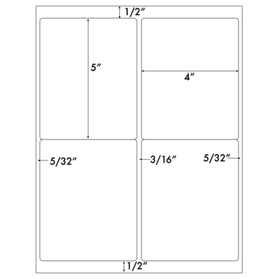 lls 4x5 4up labels template for microsoft word. Black Bedroom Furniture Sets. Home Design Ideas