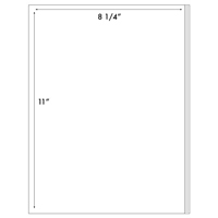"Poly Label 1UP 8 1/4"" x 11"" (#1040)"