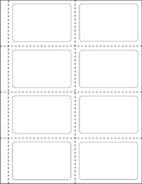 White Uncoated Labels UP - Name badge template