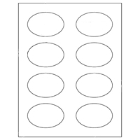 "Label 8UP 3"" X 2"" Oval Product Labels (#4318)"