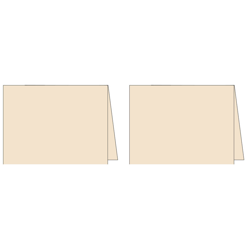 Note Cards - Classy Cream (2UP) 2