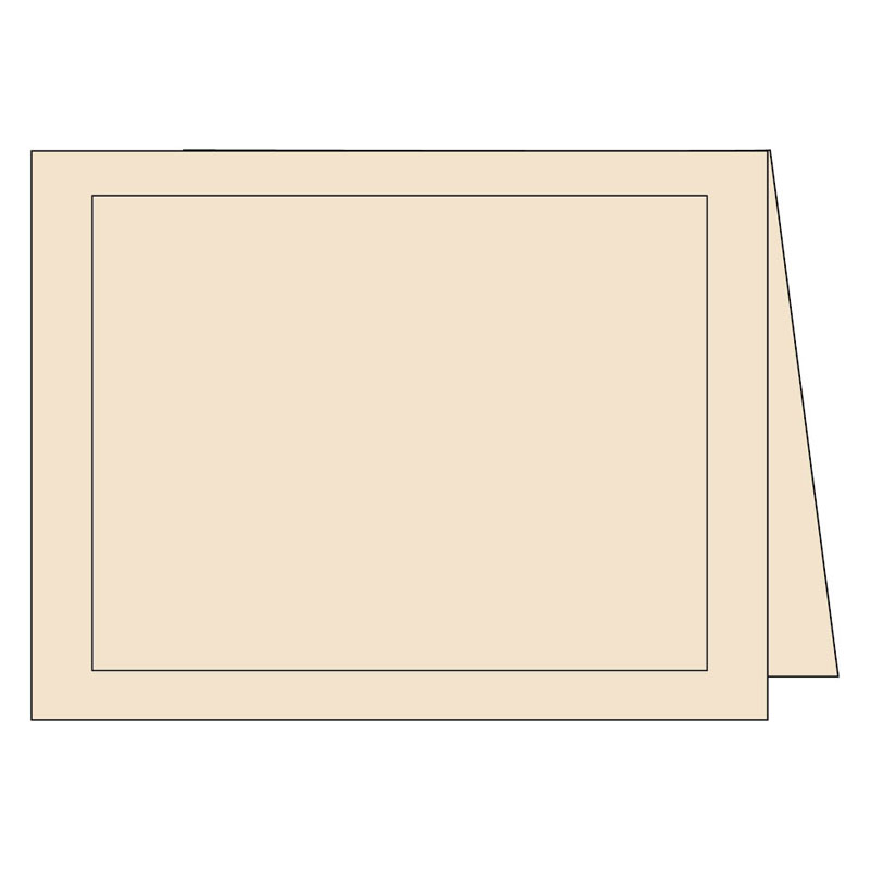 Panel Note Cards - Classy Cream 2