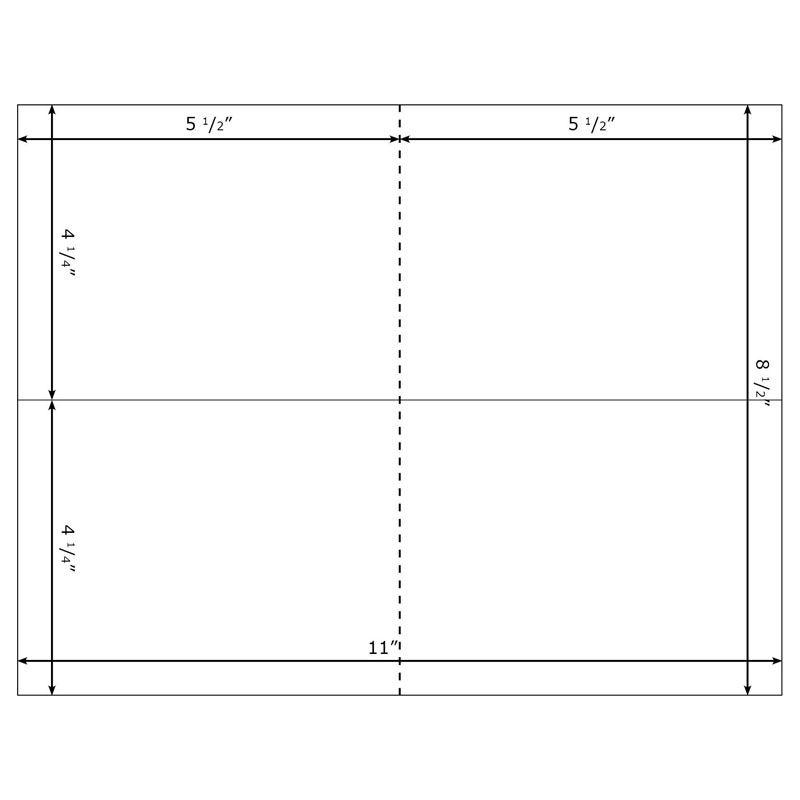 Burris Blank 2UP Note Card Template for Microsoft Word