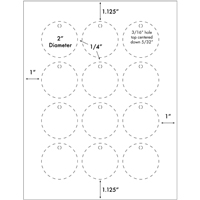 Burris Blank Printable Tags™ 12 UP Circle