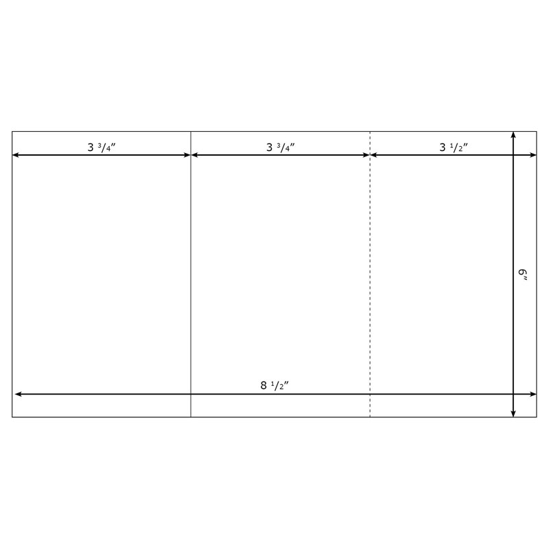 Burris Blank TriFold Template Small for Microsoft Word – Blank Pamphlet Template Word