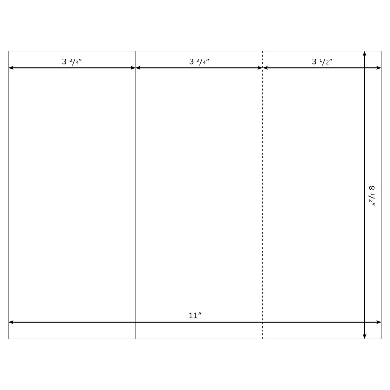 Burris Blank TriFold (Large) Template (Portrait) for Microsoft ...