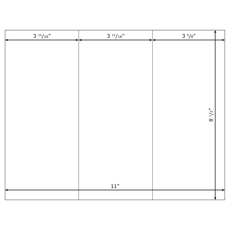 trifold name tent template