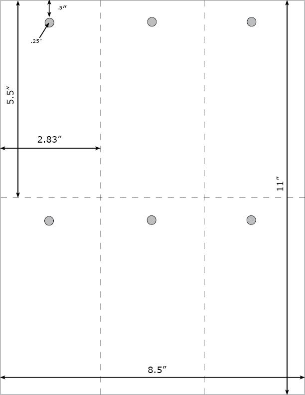 Burris Blank Printable Tag™ 6-up Template for Microsoft Word 2000 -2003
