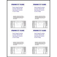 LLS-4X5 4UP Labels Jar Template (Portrait) for Publisher