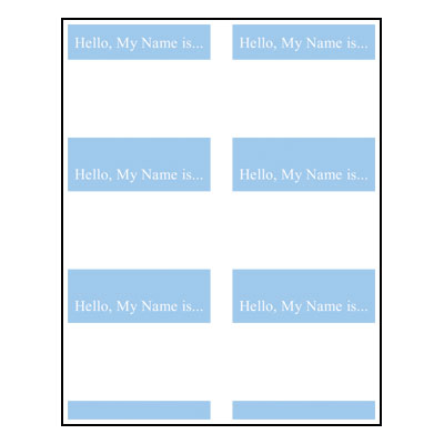Name Badge Templates - Fancy name tag template