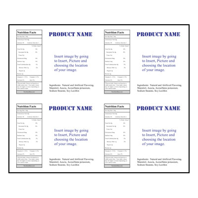 Label Sheet LLS4X5 4UP Jar Template for Microsoft Publisher – Packing Label Template
