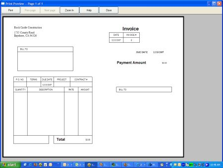 How To Save Money By Printing Your QuickBooks Invoices On Postcards - What does a quickbooks invoice look like
