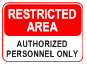 printable restricted area signs